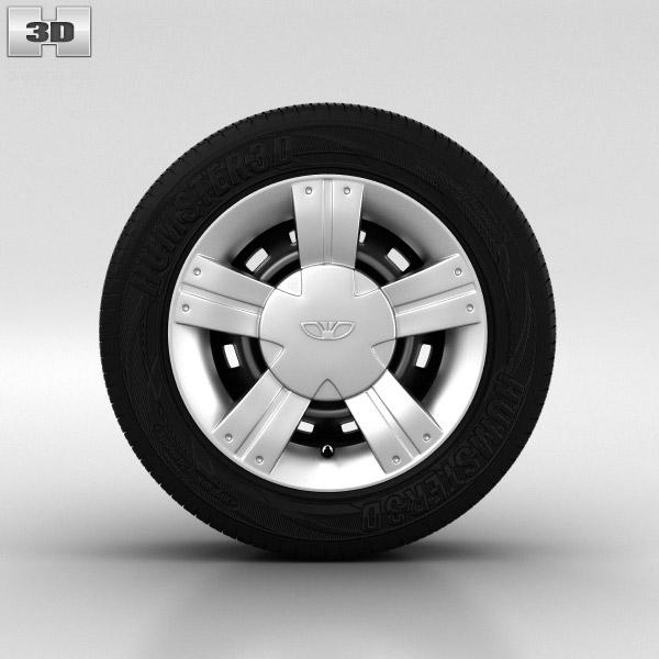 3D model of Daewoo Matiz Wheel 13 inch 002