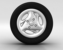 Daewoo Matiz Wheel 13 inch 003 3D model