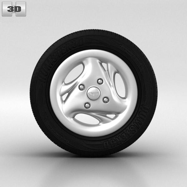Daewoo Matiz Wheel 13 inch 003 3D model