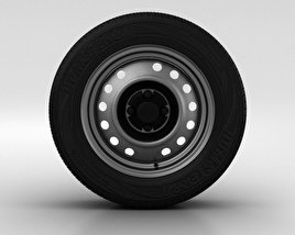 3D model of Daewoo Nexia Wheel 14 inch 001
