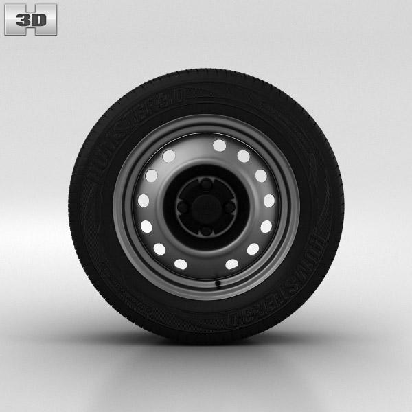 3D model of Daewoo Nexia Wheel 14 inch 001