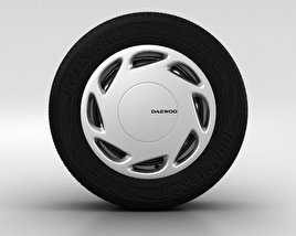 3D model of Daewoo Nexia Wheel 14 inch 002