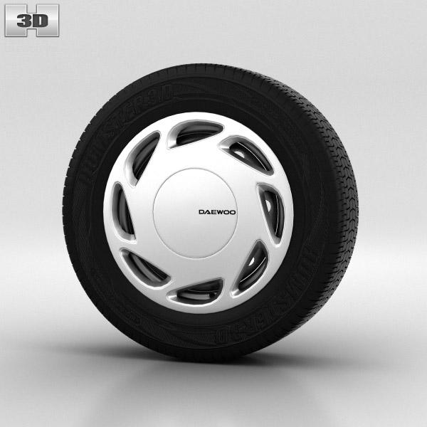 Daewoo Nexia Wheel 14 inch 002 3d model