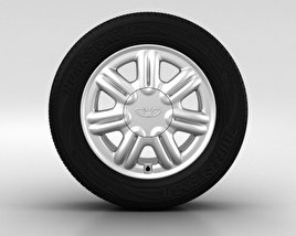 3D model of Daewoo Nexia Wheel 14 inch 003