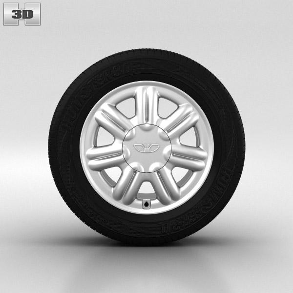 3D model of Daewoo Nexia Wheel 14 inch 003