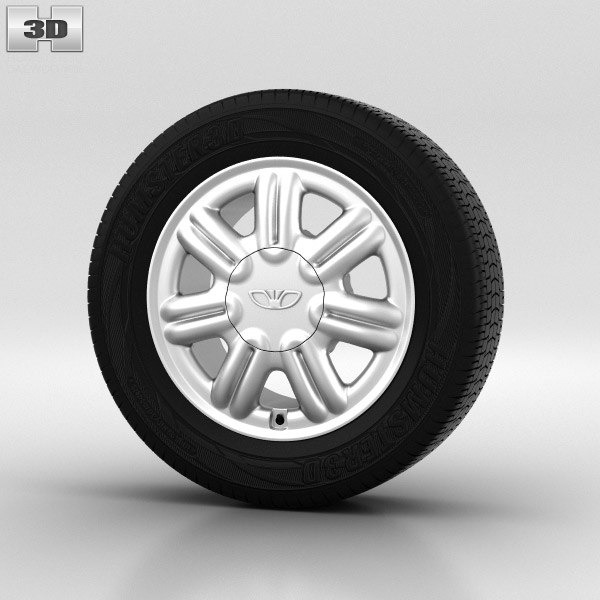 Daewoo Nexia Wheel 14 inch 003 3d model