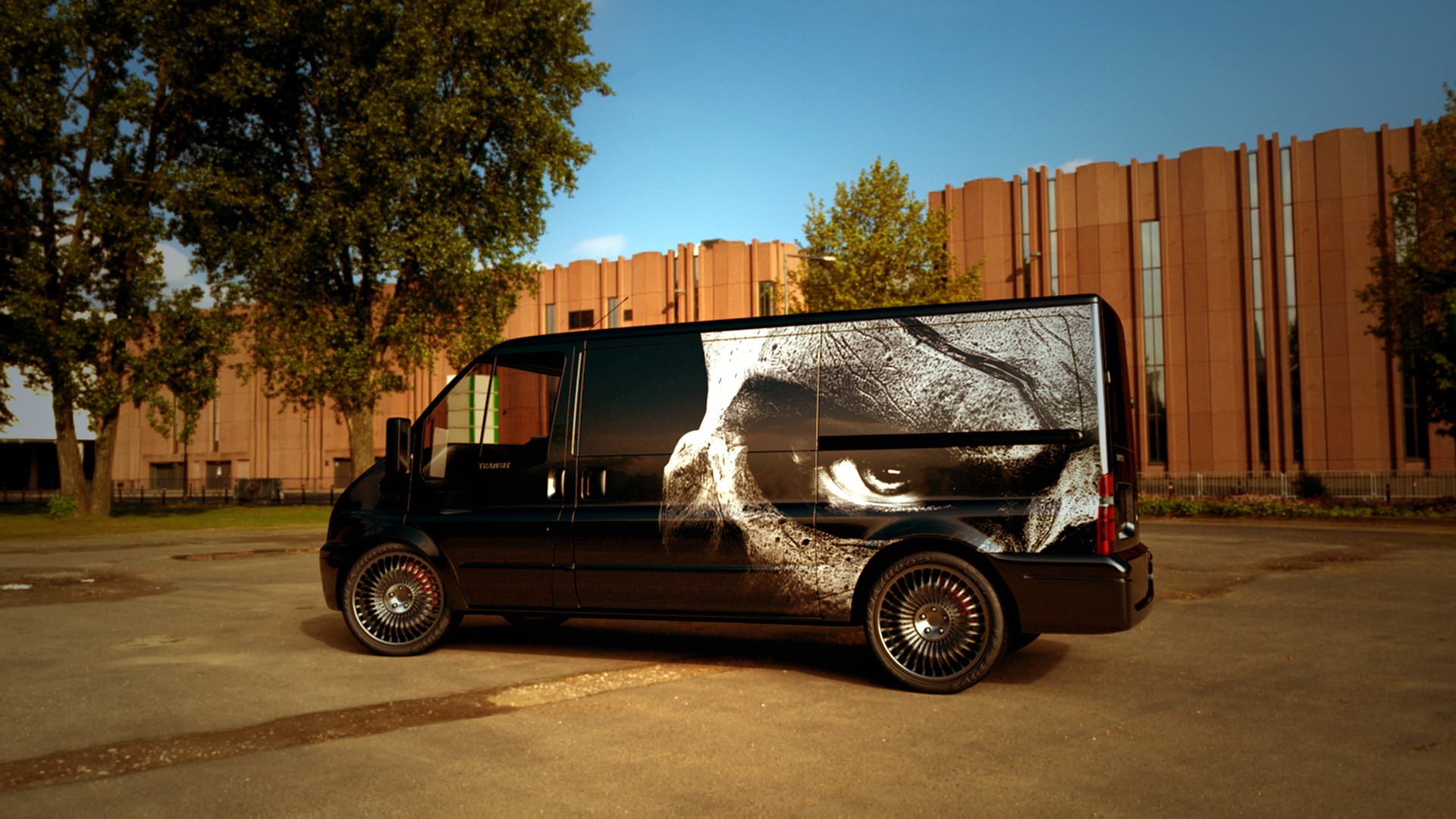 Ford Transit van 3d art