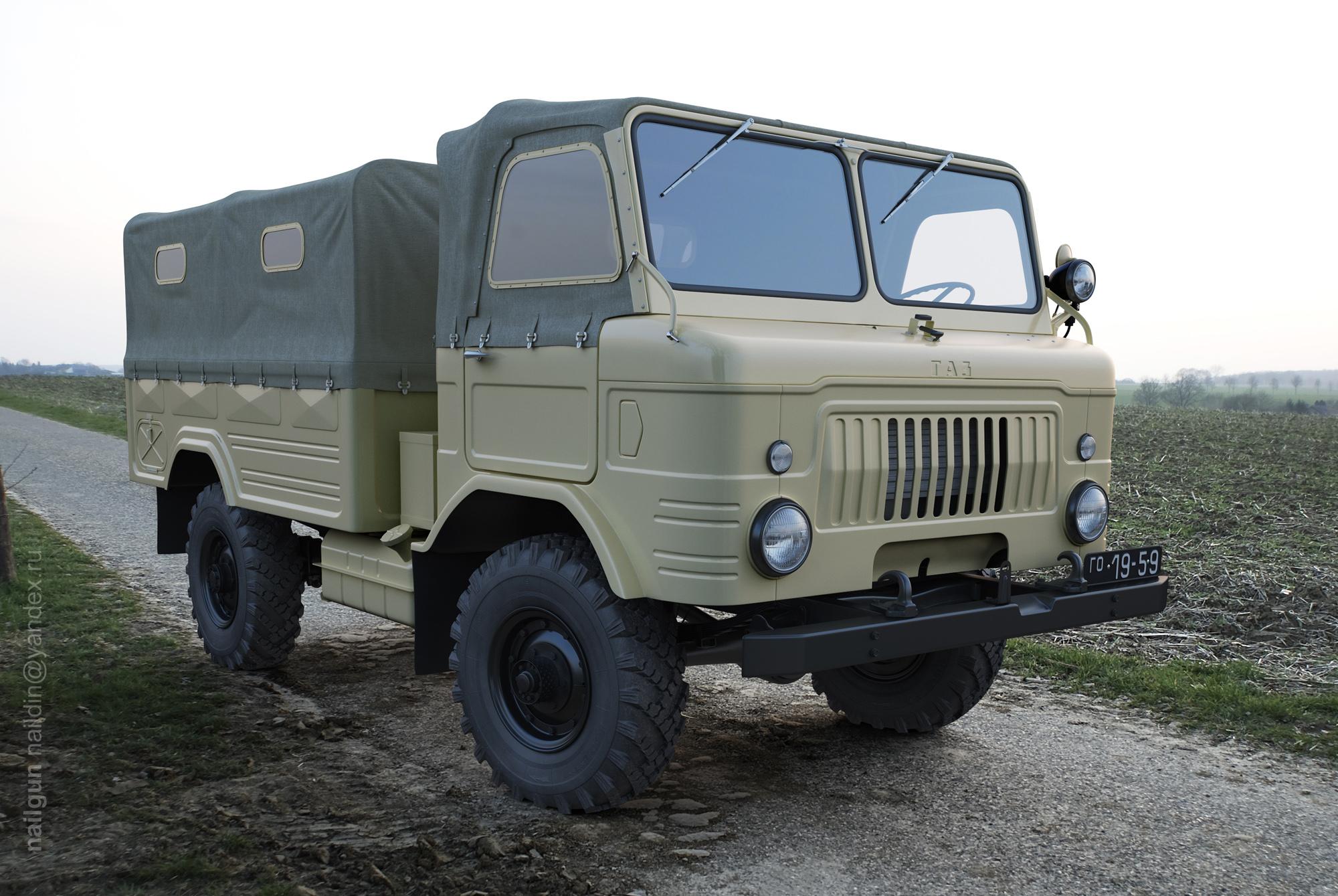 Russian army truck, 1959 3d art