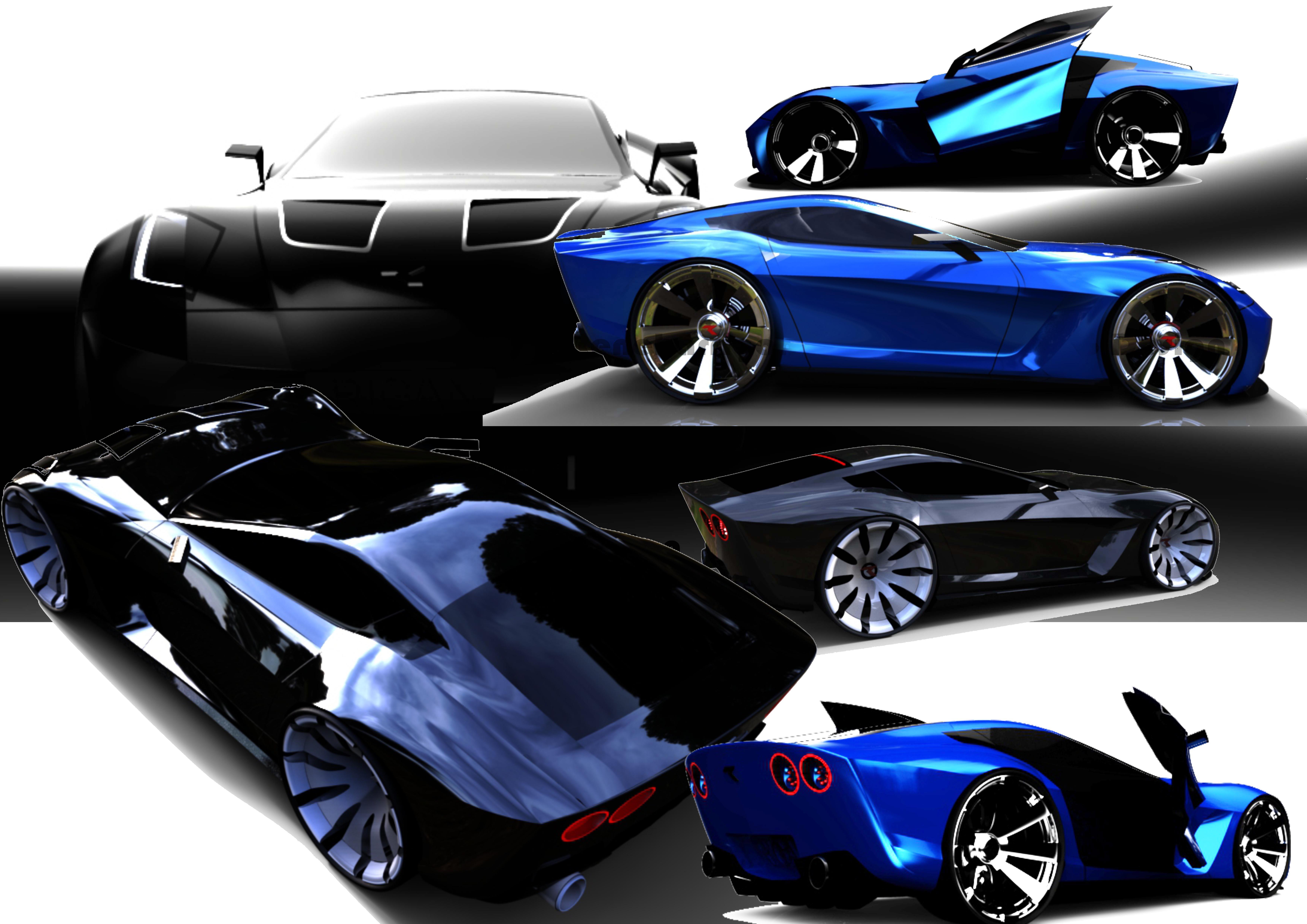 Concept car GTS 860 3d art
