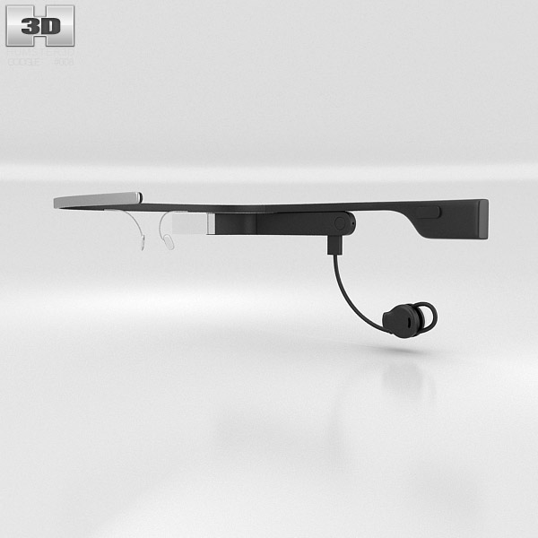 Google Glass with Mono Earbud Shale 3d model