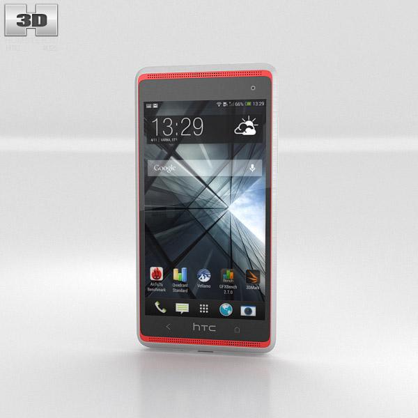 HTC Desire 600 White 3D model