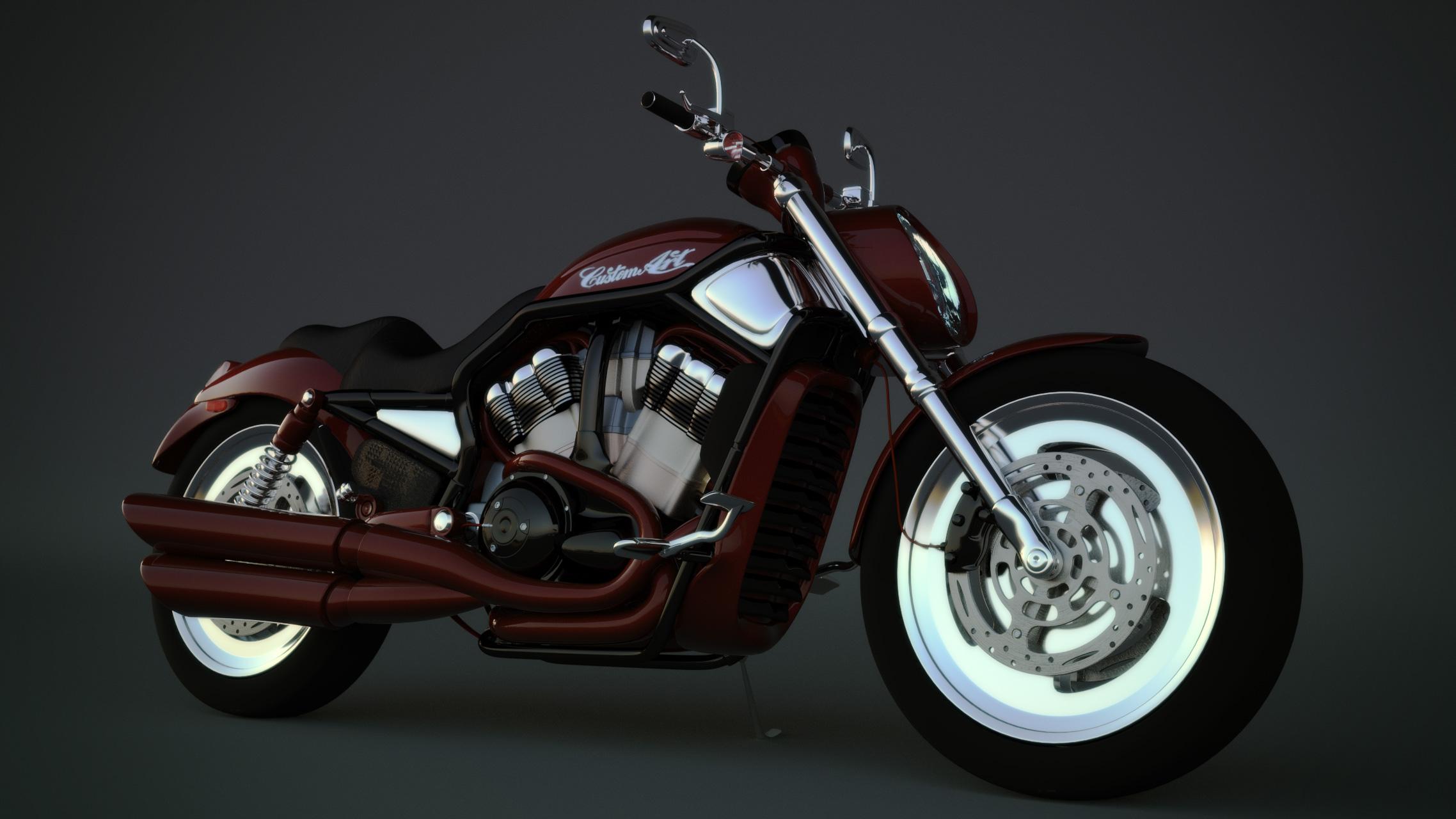 Harley Davidson 3d art