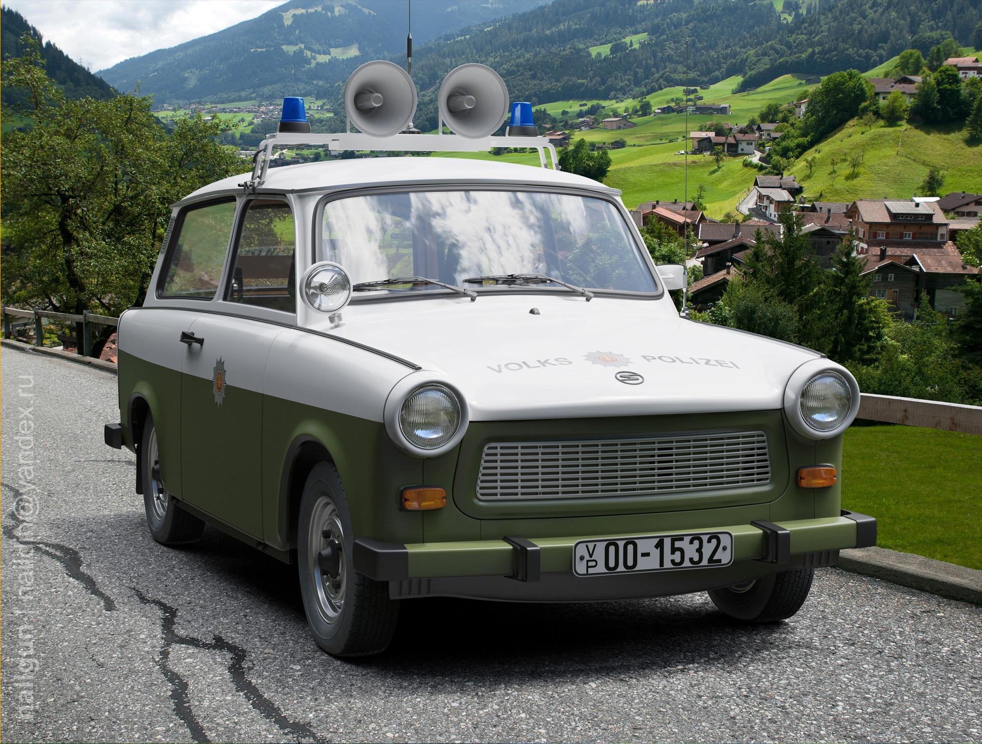 IFA Trabant 1981 DDR Volkspolizei 3d art