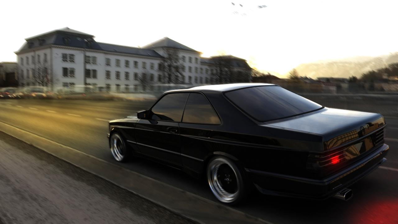 Mercedes 560 SEC AMG Widebody 3d art