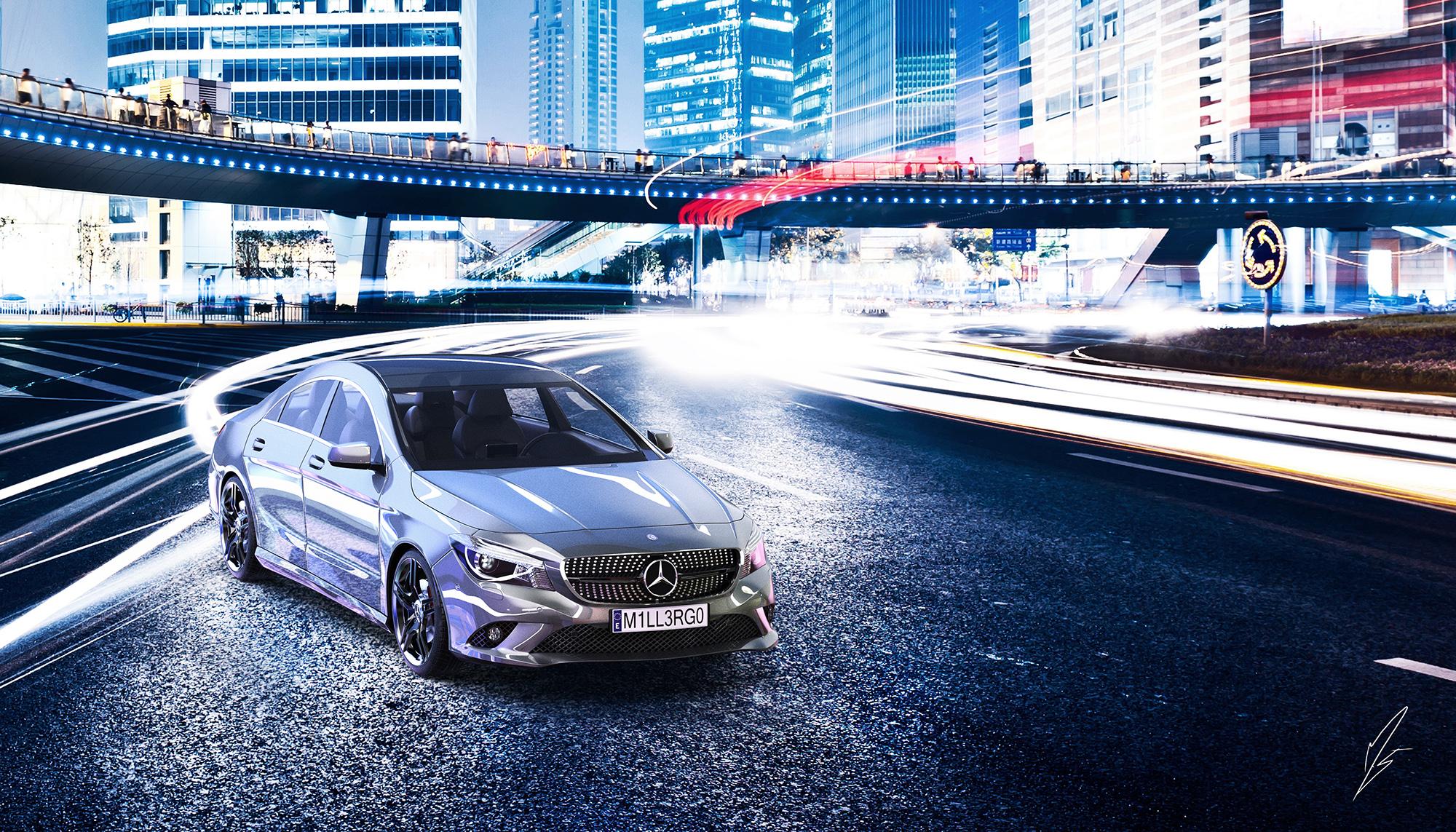 Mercedes-Benz CLA 3d art