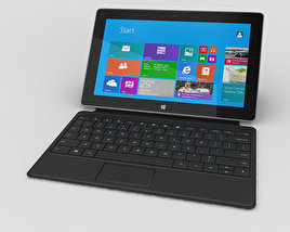 3D model of Microsoft Surface 2 with Type Cover