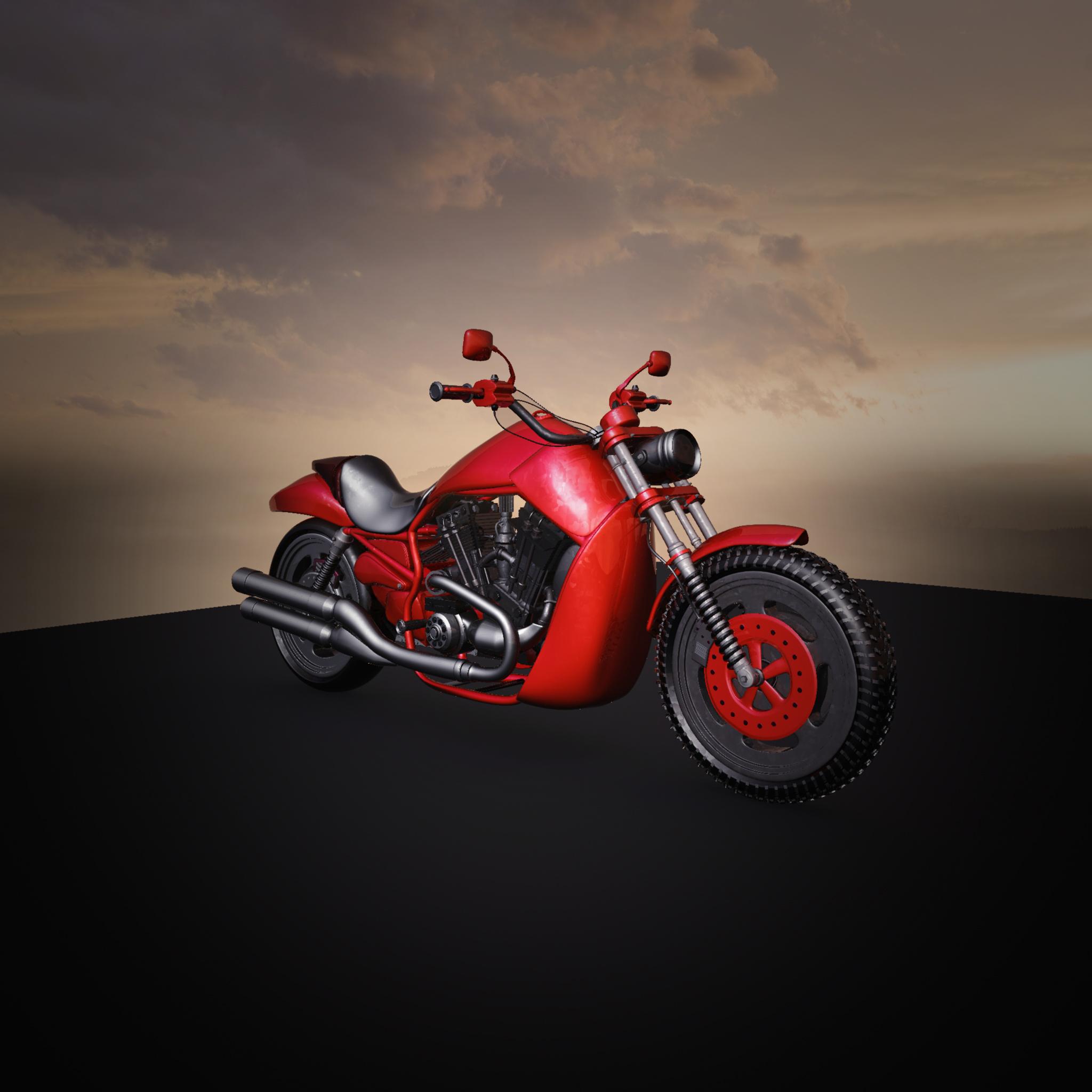 Moto Bike 3d art