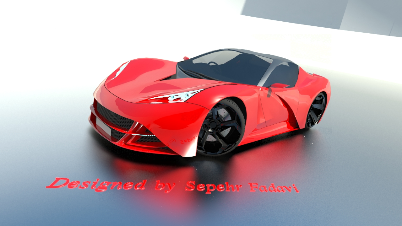 My dream car 3d art