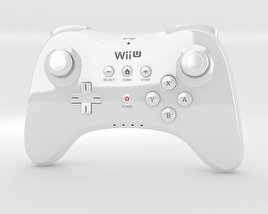 3D model of Nintendo Wii U Gamepad Pro