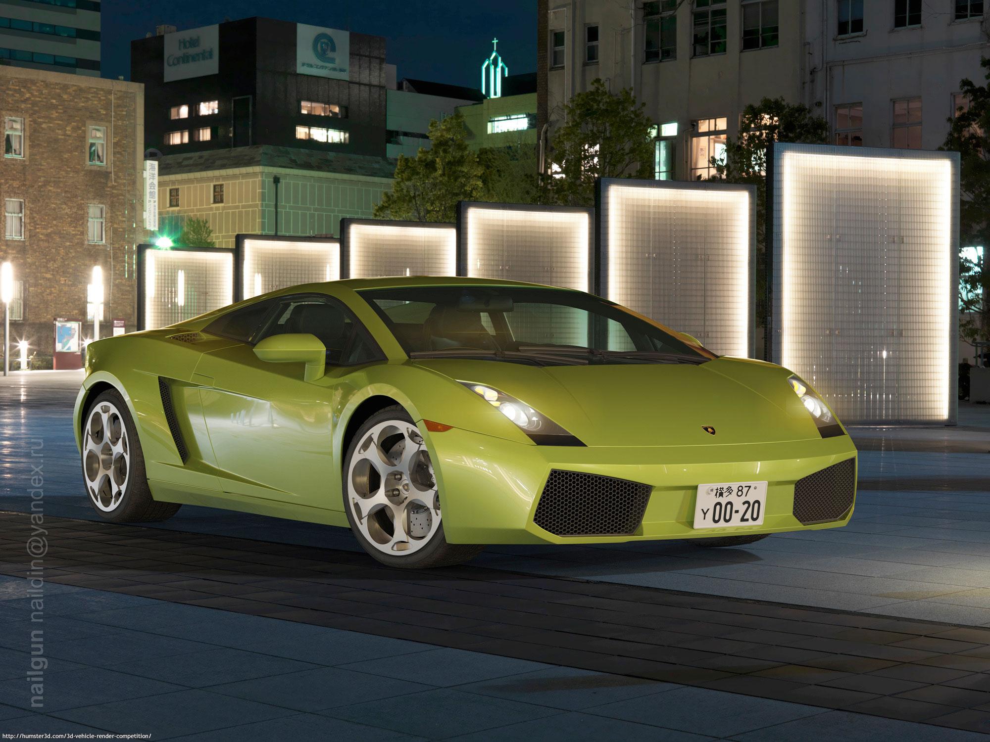Lamborghini Gallardo, Italy 3d art