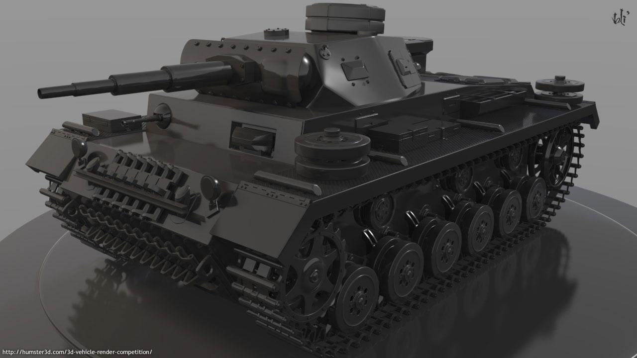 Panzer IV Custom 3d art