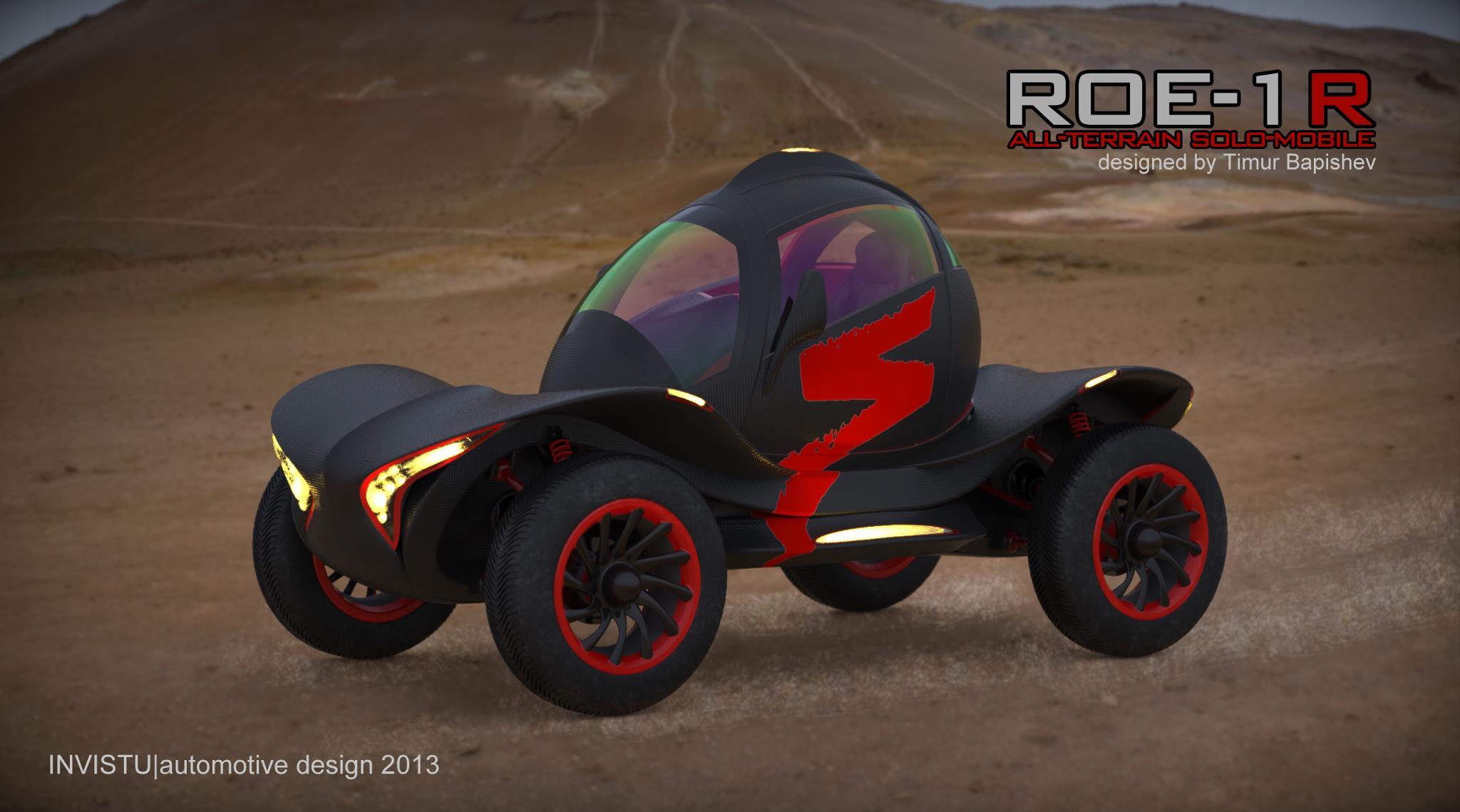 ROE-1R all terrain solo-mobile 3d art