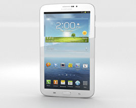 3D model of Samsung Galaxy Tab 3G 3 7-inch White