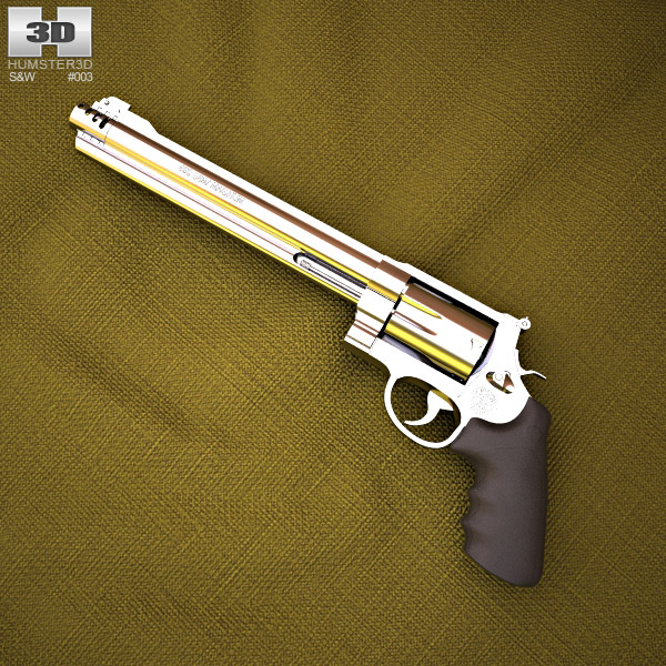 3D model of Smith & Wesson 460 XVR