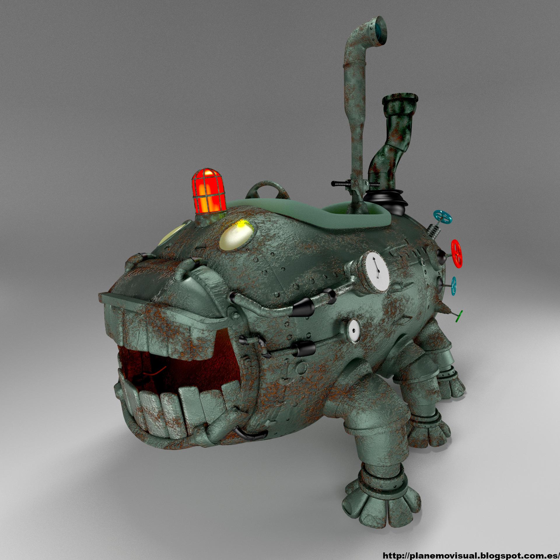 Tank with legs 3d art