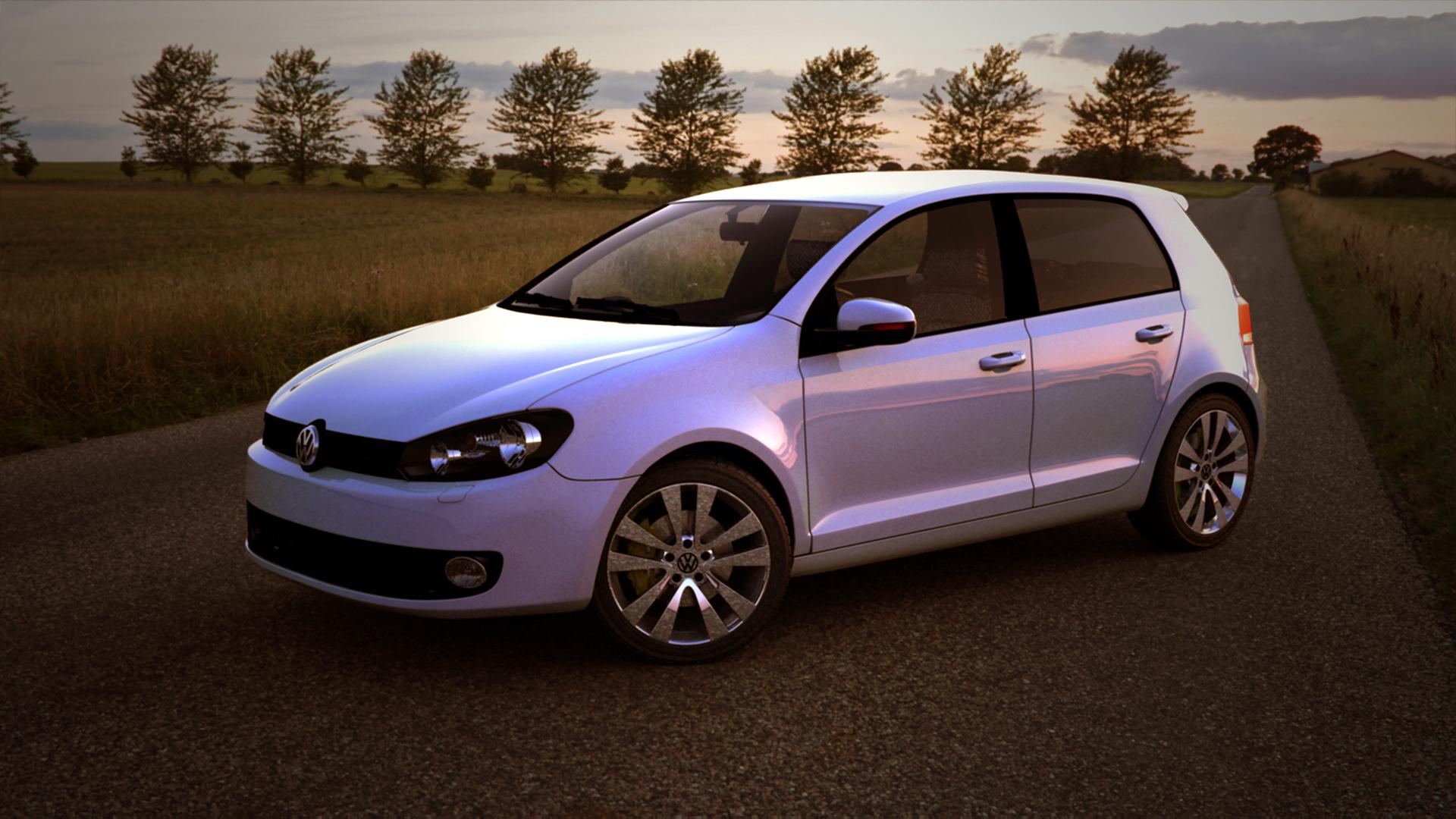 VW Golf 3d art