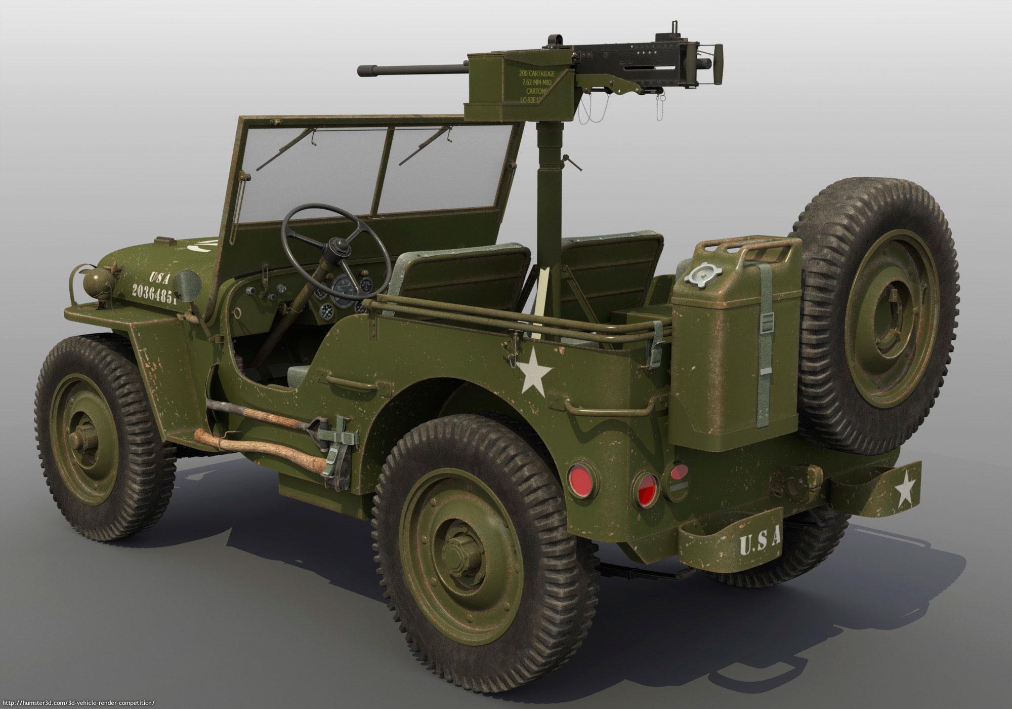 Willys U.S. Army Jeep 3d art