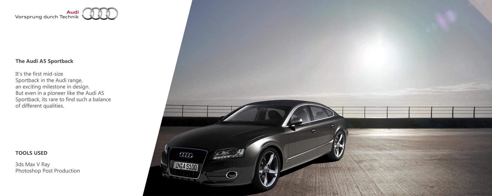 Audi A5 sportback 3d art