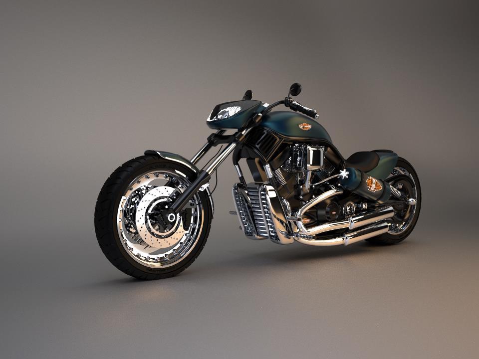 Motorcycle 3d art