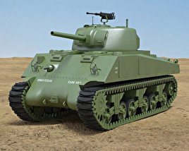 3D model of M4A2 Sherman