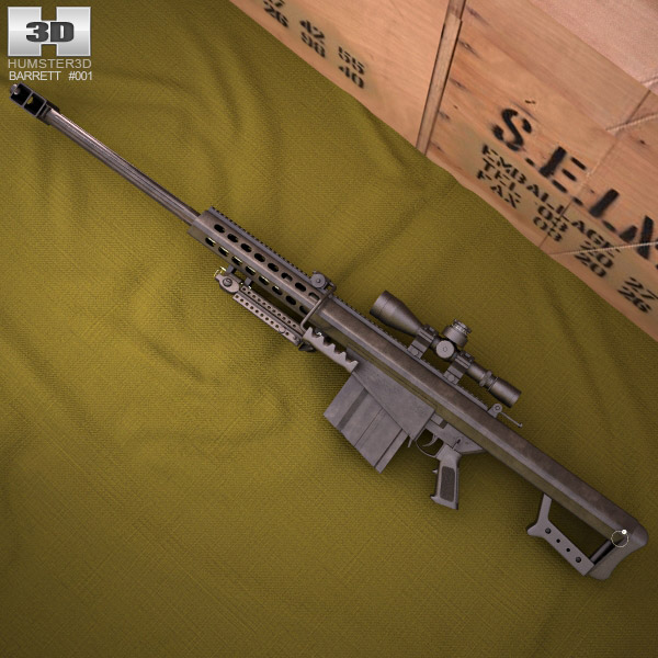 3D model of Barrett M82A1