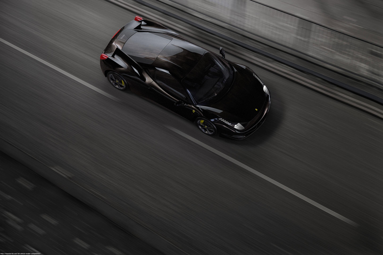 Black Ferrari 3d art