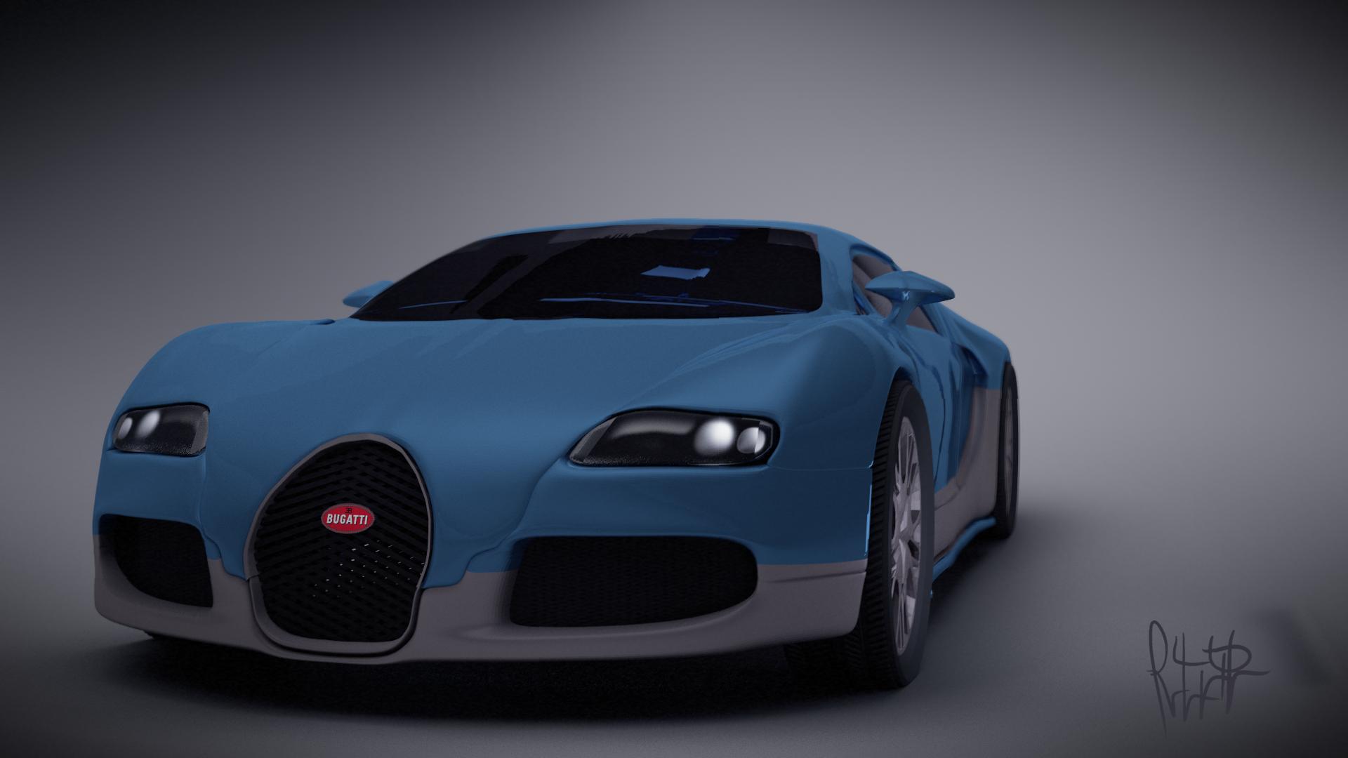 Bugatti Veyron 3d art