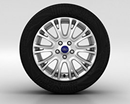 3D model of Ford Focus Wheel 16 inch 001