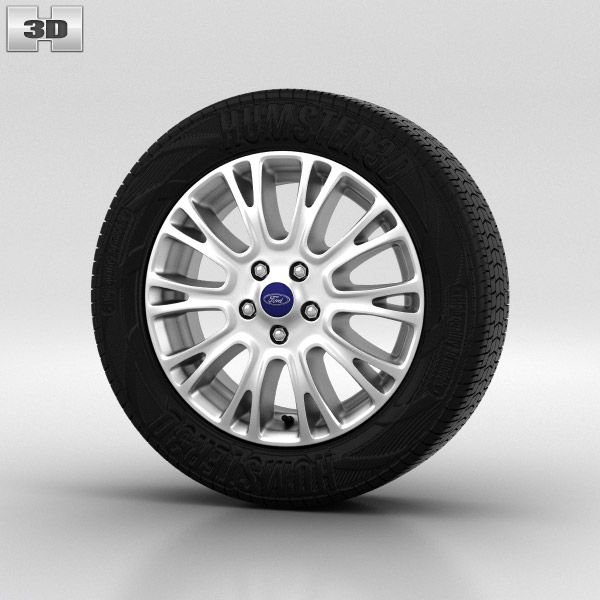 Ford Focus Wheel 16 inch 001 3d model