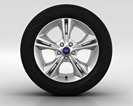 3D model of Ford Focus Wheel 16 inch 002