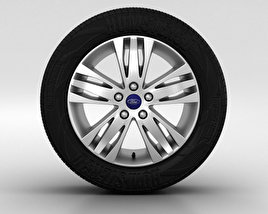 3D model of Ford Focus Wheel 16 inch 003
