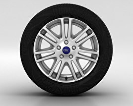 3D model of Ford Focus Wheel 16 inch 004