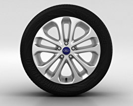 3D model of Ford Focus Wheel 17 inch 001