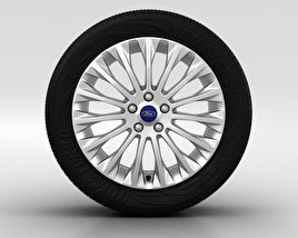 3D model of Ford Focus Wheel 17 inch 003