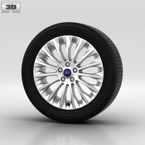 Ford Focus Wheel 17 inch 003 3d model