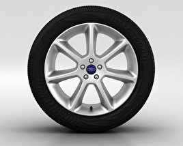 3D model of Ford Focus Wheel 18 inch 001