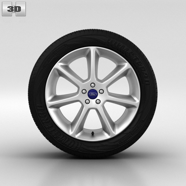 Ford Focus Wheel 18 inch 001 3D model