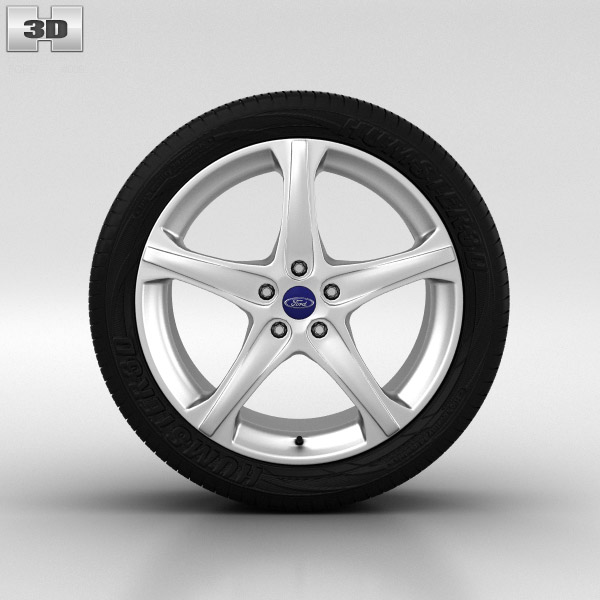 3D model of Ford Focus Wheel 18 inch 002