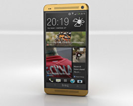 HTC One Gold Edition 3D model