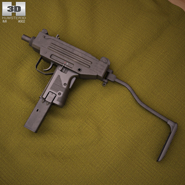 3D model of IMI Micro Uzi